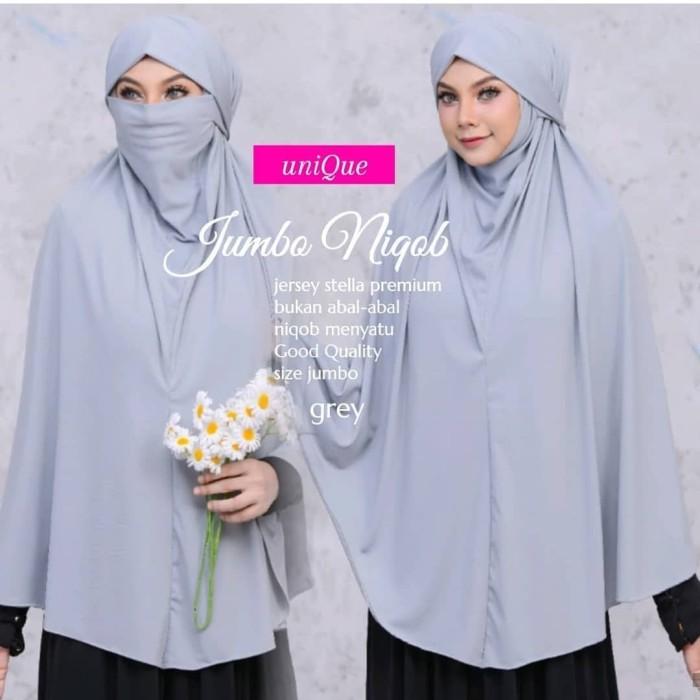 Jual French Khimar Jilbab Masker Khimar Masker Niqob Gray Kota Bandung Jeanice Shop Tokopedia
