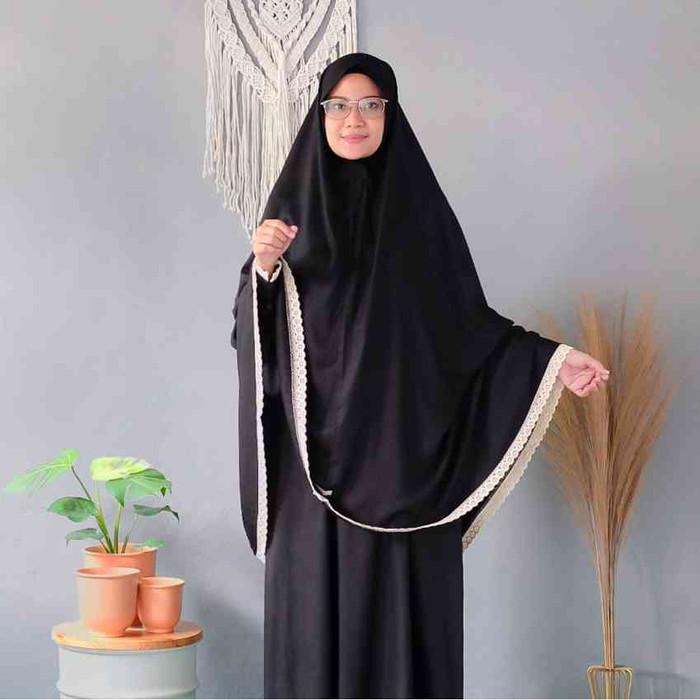 Foto Produk DRESS SHINY BLACK SET - S dari queenahijab_id