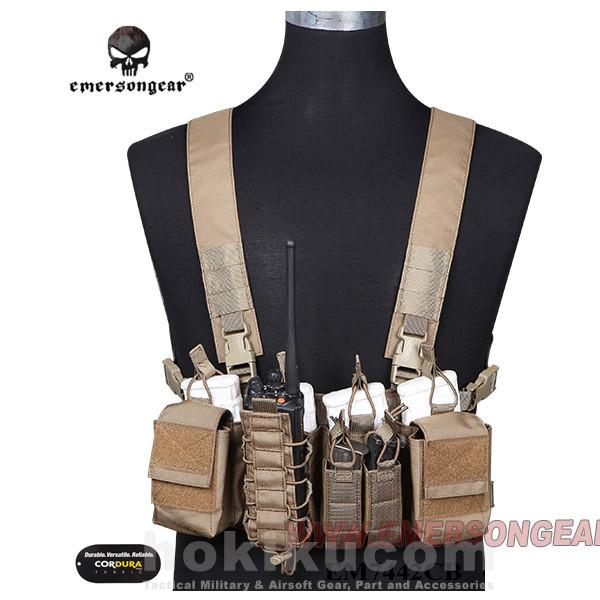 Foto Produk Rompi Airsoft Tactical Vest Emerson Gear D3CR Tactics Chest Rig - Brown dari Hokikucom