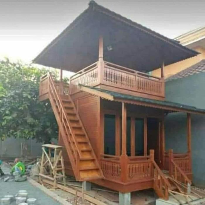 Jual Rumah Kayu Rumah Panggung Dua Lantai Kab Jepara Rumah Kayu Gazebo Tokopedia