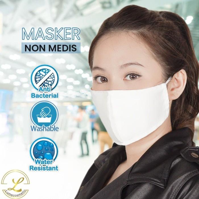 Foto Produk Masker Kain Lume (Anti Bakteri, Debu, Jamur) | Putih dari lumecolorsindonesia
