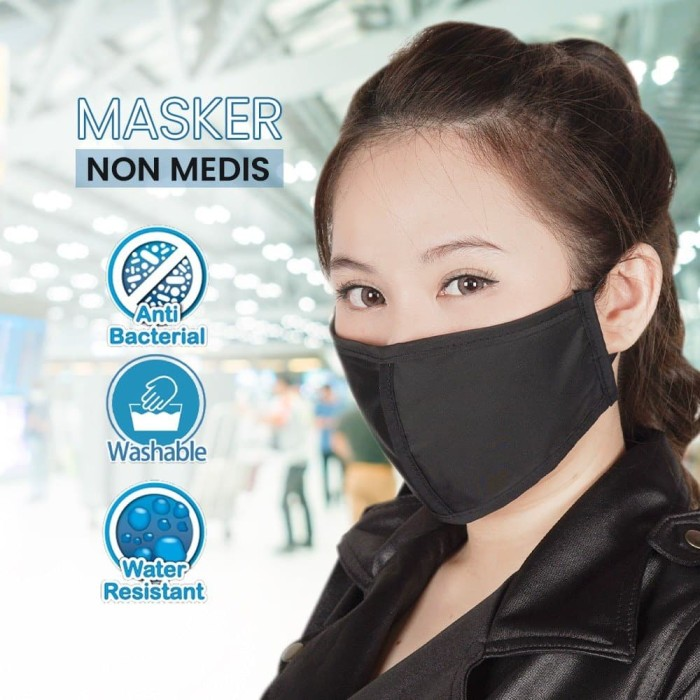 Foto Produk Masker Kain Lume ( Anti Bakteri, Jamur, Debu) | Hitam dari lumecolorsindonesia