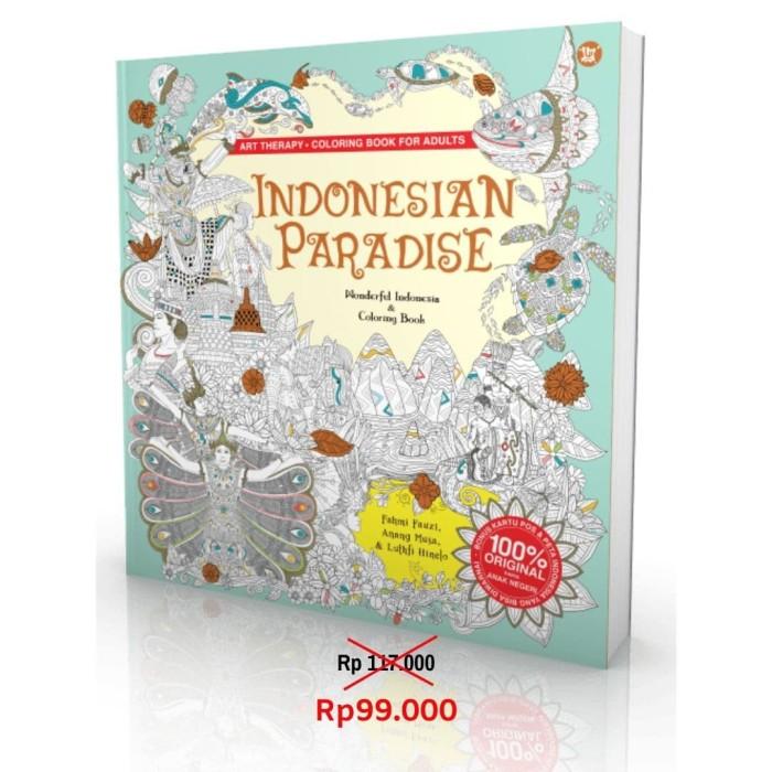 Foto Produk Indonesian Paradise - Coloring Book for Adults dari Toko Kutu Buku