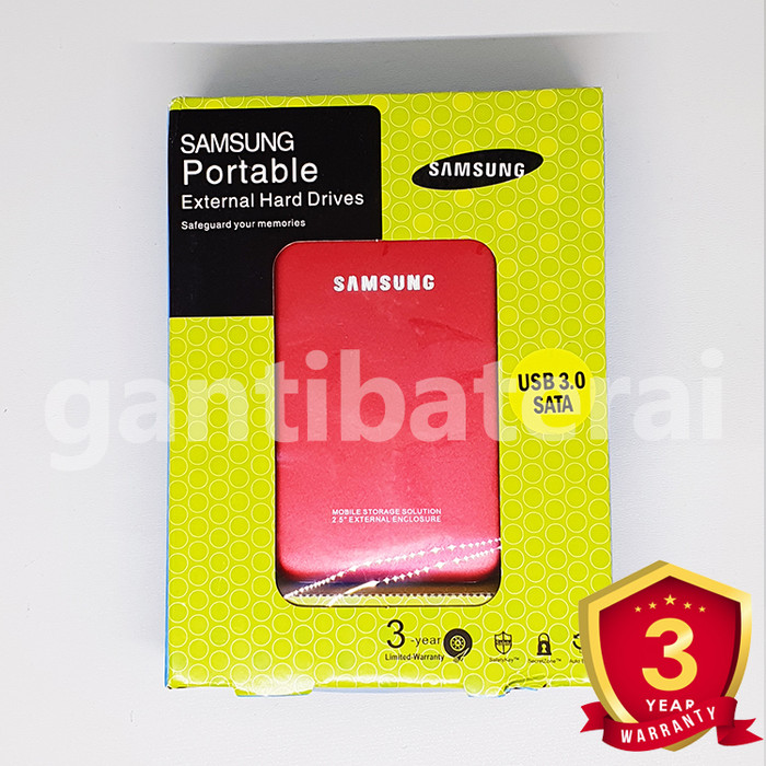 Foto Produk Case Harddisk 2.5 Samsung Usb 3.0 Sata / Casing Hardisk Hdd 3.0 casing - Merah dari gantibaterai