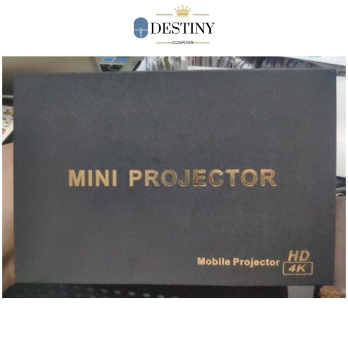 Foto Produk Mini Mobile Smart Projector P09-II Ultra HD 4K dari Destiny Computer