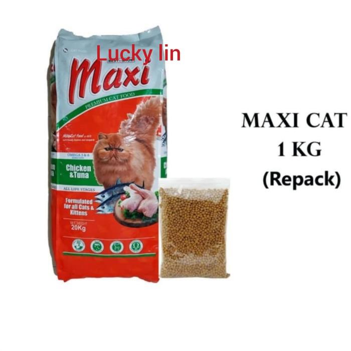 Jual Makanan Kucing Maxi Kemasan Repack 1kg Kota Bekasi Luckylin Tokopedia