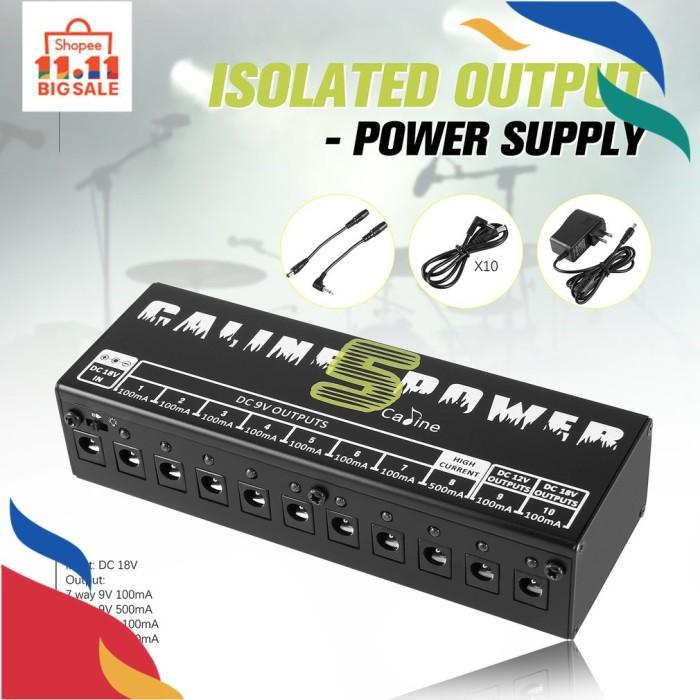 Foto Produk FY* Caline CP-05 Power Supply 10 Port Isolator Output untuk Pedal dari UNAQO