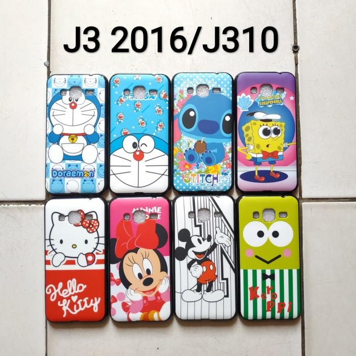 Foto Produk Softcase glossy karakter samsung j3 2016 Doraemon keropi mouse dari dyrenzcell