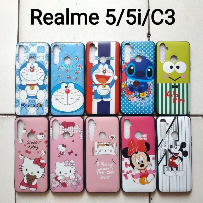 Foto Produk softcase glossy karakter oppo Realme 5/5i/C3 Doraemon keropi mouse dari dyrenzcell