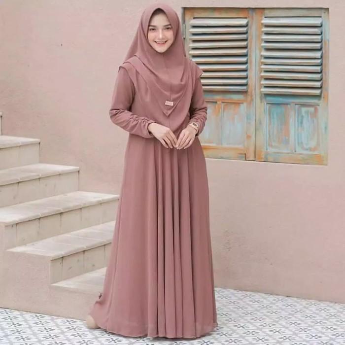 Foto Produk Baju Gamis Setelan Syari Wanita Terbaru Mayra Gamis Syari Muslim Murah dari Glory Hijab