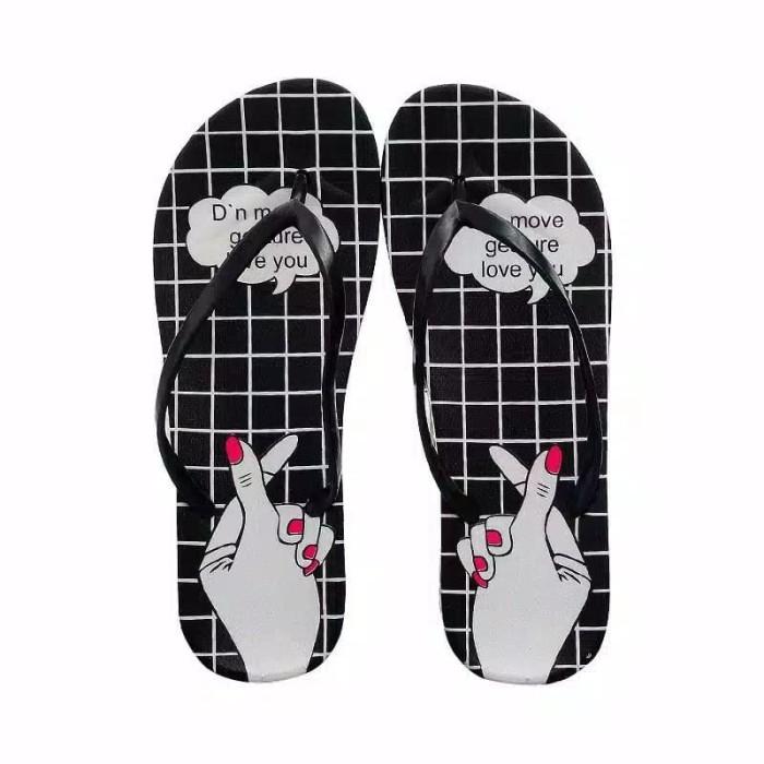 Foto Produk Sendal Love Sign HARGA SPECIAL Sandal Jepit Pantai Fashion dari MT Ponsel