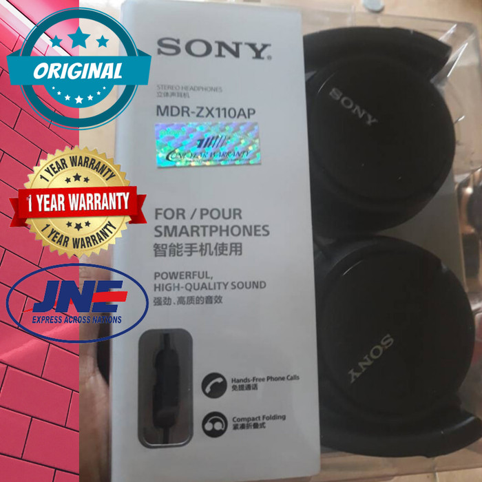 Foto Produk headphone - headset sony mdr zx-110ap with mic original dari indram jazz