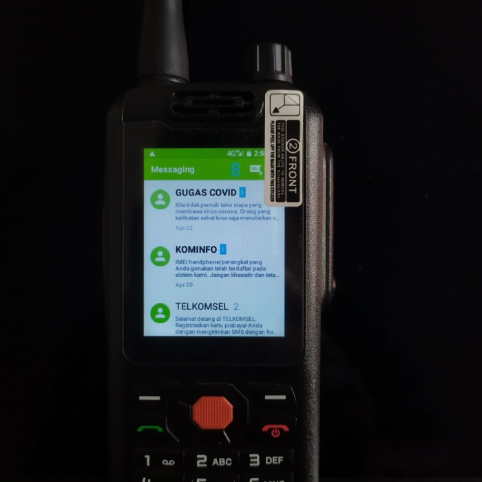 Foto Produk Walky Talky Zello Alps F25 New 4G LTE HP Android Phone With Keypad dari IP-Trunk Online