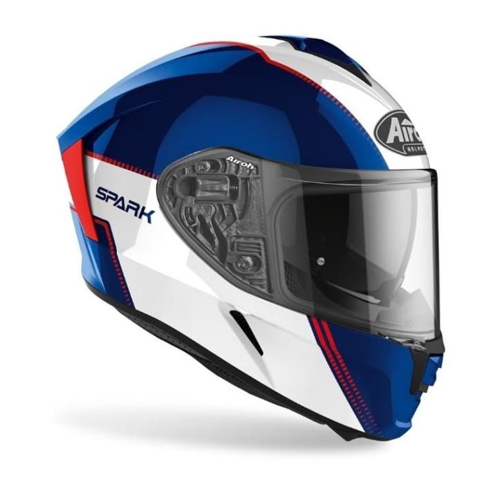Foto Produk Airoh SPARK FLOW Blue Red Glossy Double Visor Free Pinlock dari Juragan Helm ID
