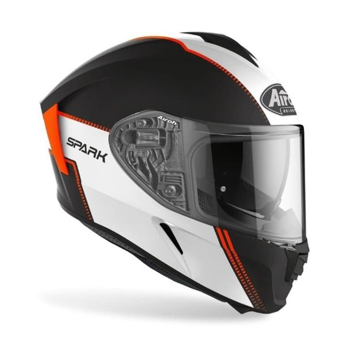 Foto Produk Airoh SPARK FLOW Orange Matt Double Visor Free Pinlock dari Juragan Helm ID
