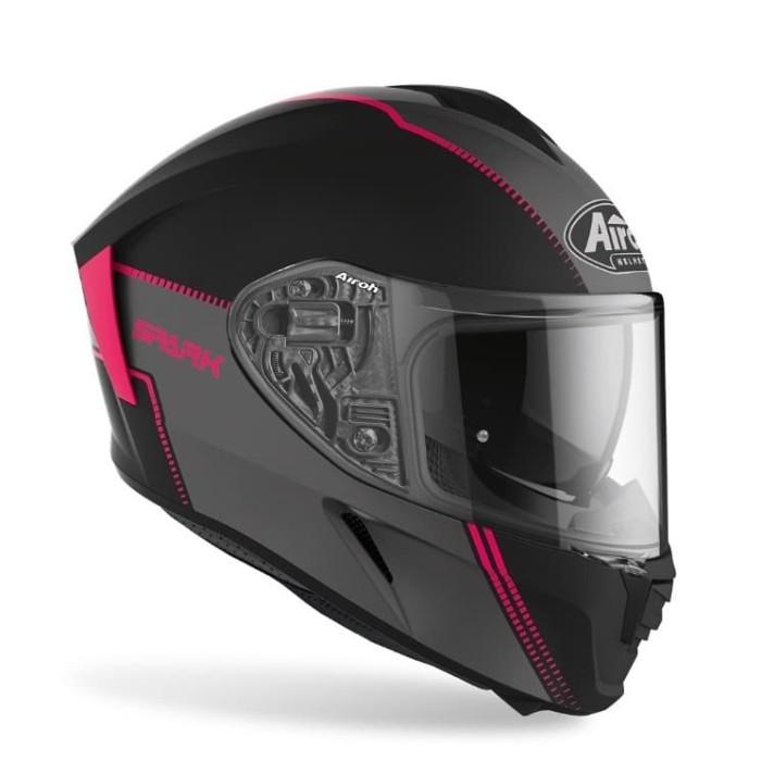 Foto Produk Airoh SPARK FLOW Pink Matt Double Visor Free Pinlock dari Juragan Helm ID