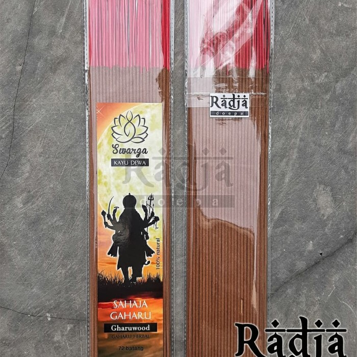 Foto Produk Dupa Hio Natural SAHAJA GAHARU 72 batang Premium Gaharu Herbal dari Radja Doepa