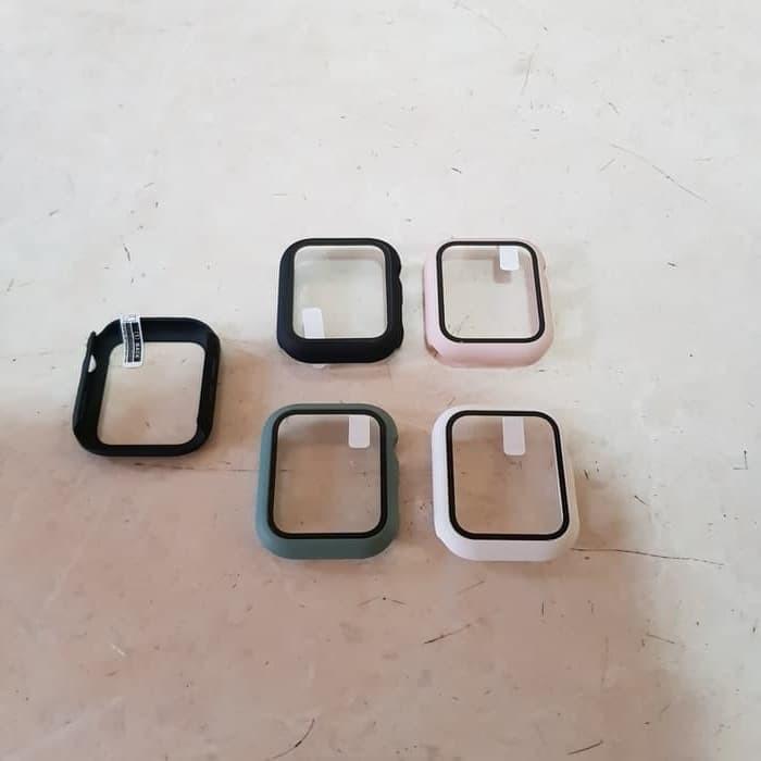 Foto Produk Bumper PC Hard Case Tempered Glass Apple Watch iwatch 38 mm 38mm dari wenz acc