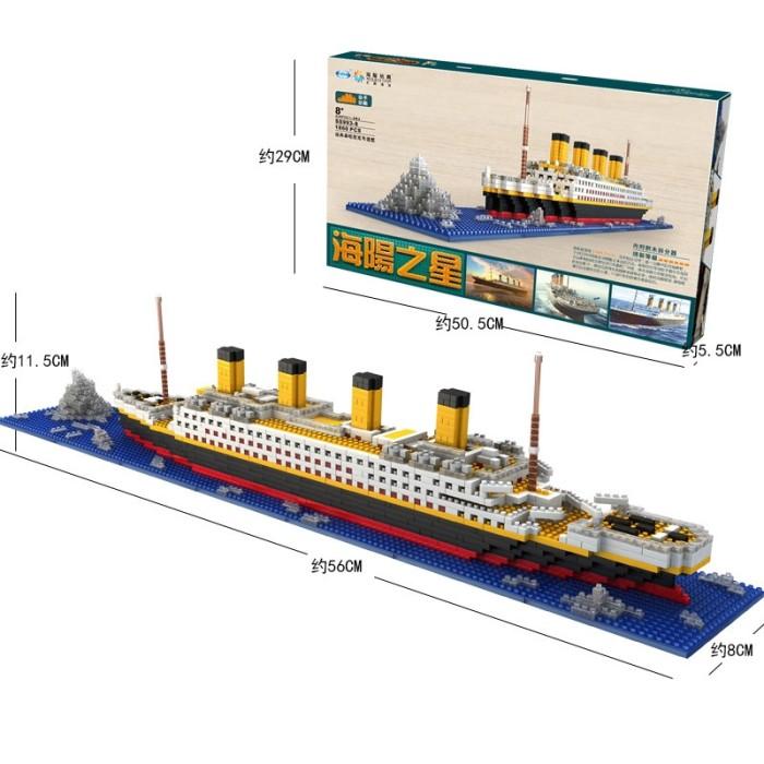 Jual 1860pcs Lego Balok Bangunan Kapal Titanic Kecil untuk ...