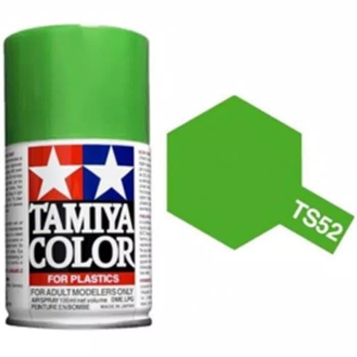 Foto Produk TAMIYA TS-52 CANDY LIME GREEN SPRAY PAINT #TS-52 dari Helihantoys