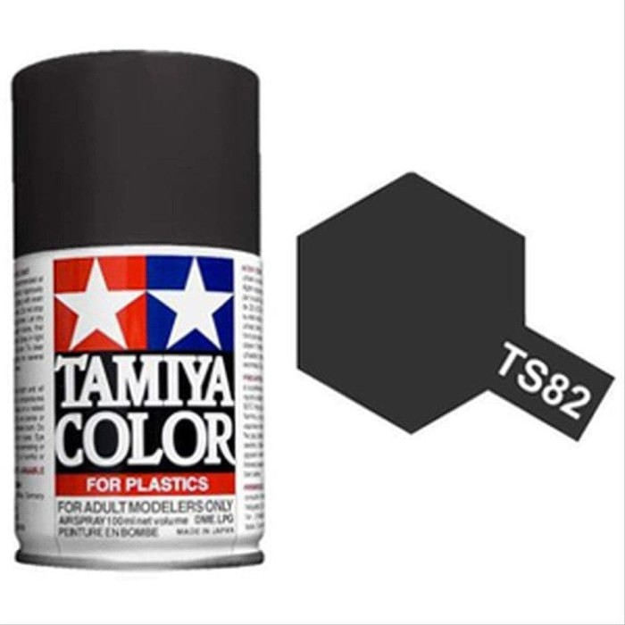 Foto Produk TAMIYA TS-82 BLACK RUBBER SPRAY PAINT #TS-82 dari Helihantoys
