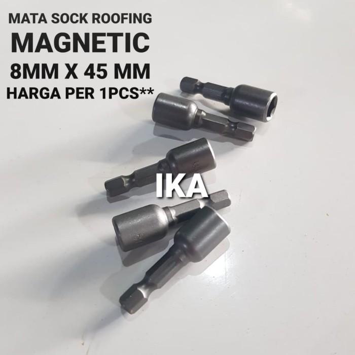 Foto Produk Mata sok roofing / bor / magnetic 8 mm x 65 kunci drilling nut setter - SOCK 8MM X 48M dari Indokaryaabadi