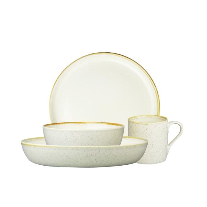 Foto Produk ZEN Dinner Set Stoneware Series-Cream + Free Gift Box dari ZEN Porcelain Tableware