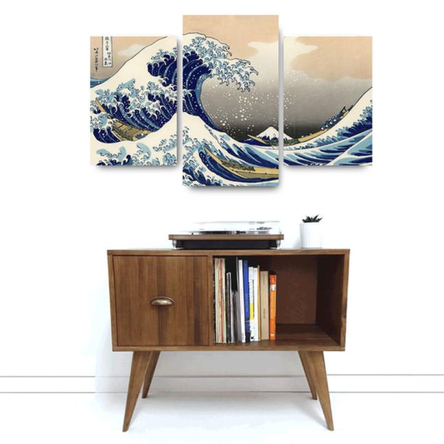 "Foto Produk ""Great Wave Of kanegawa"" Poster Kayu (Multipanel) dari Arkham Inc"