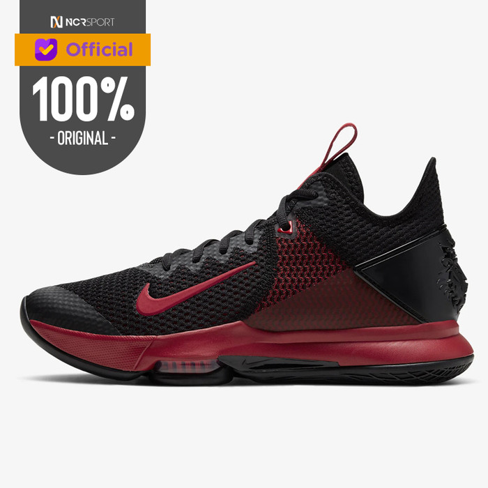 Foto Produk Sepatu Basket Nike Lebron Witness 4 Black Crimson Original BV7427-006 dari Ncr Sport