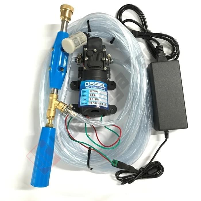 Foto Produk PAKET SET Mesin Cuci AC Motor Mobil Steam Power Sprayer Alat Portable dari densonline
