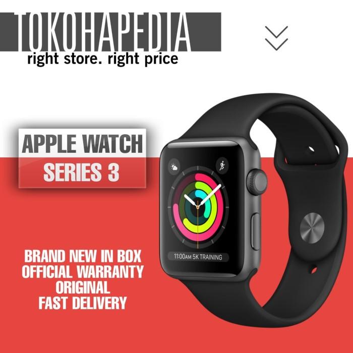 Foto Produk Apple Watch / iWatch Series 3 38mm Alumunium Black Sport Band - RESMI INTER dari tokohapedia