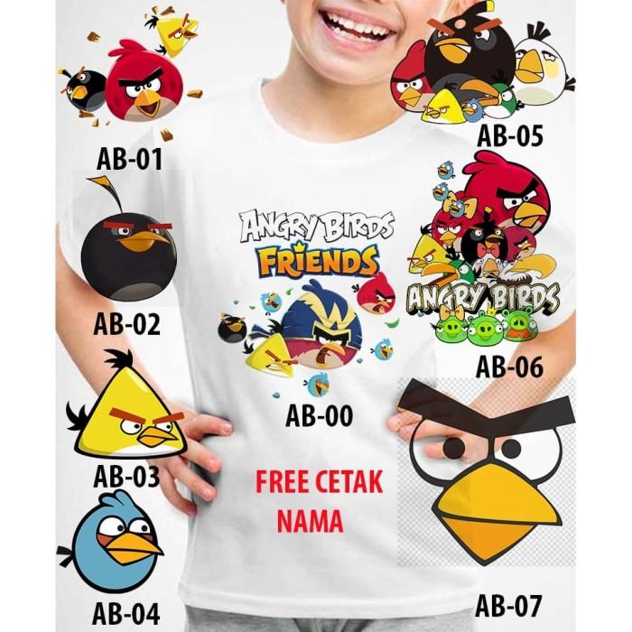 Foto Produk Kaos Baju tshirt anak Custom Angry Birds dari lysinshop