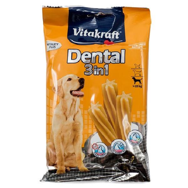Foto Produk Vitakraft Dental 3in1 Medium II 120gr 22306 Dog Snack Asah Sikat Gigi dari Hime petshop