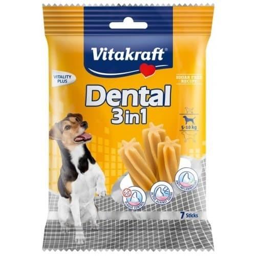 Foto Produk Vitakraft Dental 3in1 Small II 120gr 22305 Dog Snack Asah Sikat Gigi dari Hime petshop