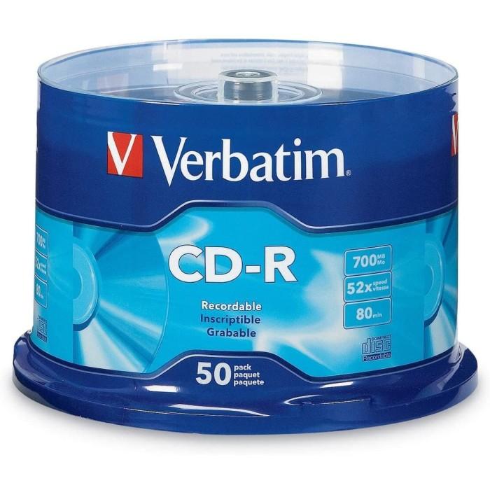 Foto Produk CDR Verbatim CD-R Verbatim Isi 50Pcs dari PojokITcom Pusat IT Comp