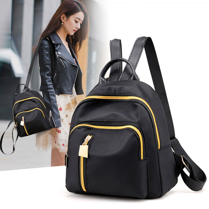 Foto Produk FREEKNIGHT Tas Wanita Tas Backpack Resleting Tas Ransel Wanita TR704 - Hitam dari Freeknight