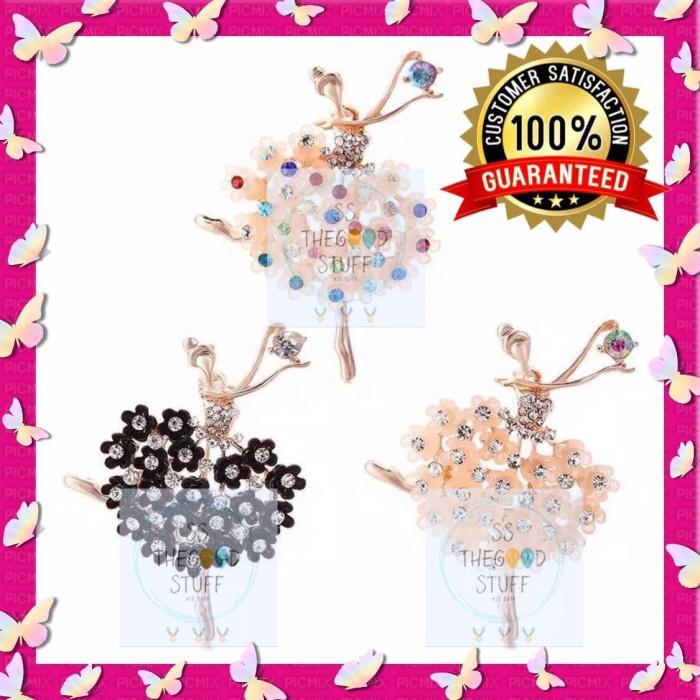 Foto Produk Pin Bross Balerina Balet Crystal Premium Quality Best Seller! - Bewarna dari SS TheGoodStuff