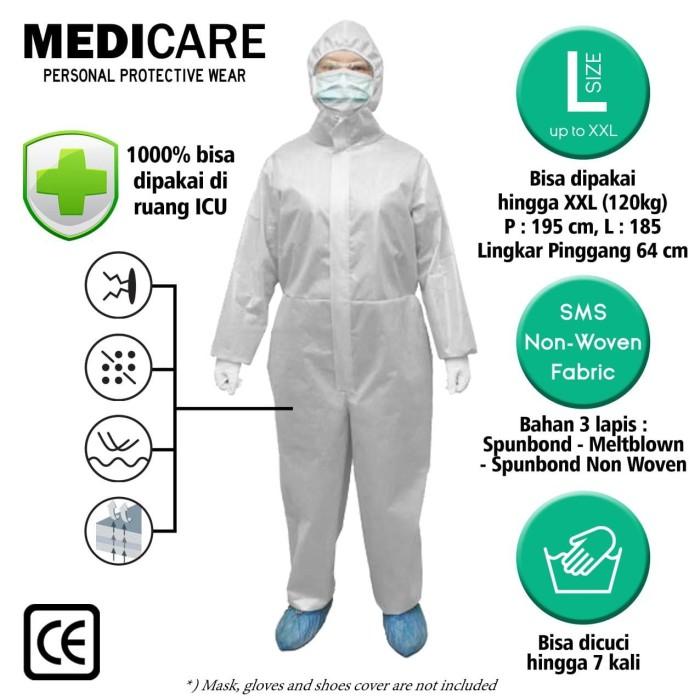 Foto Produk MEDICAL GRADE 3M HAZMAT SUIT / BAJU APD MEDIS / COVERALL ANTI CORONA dari MONTANA ID