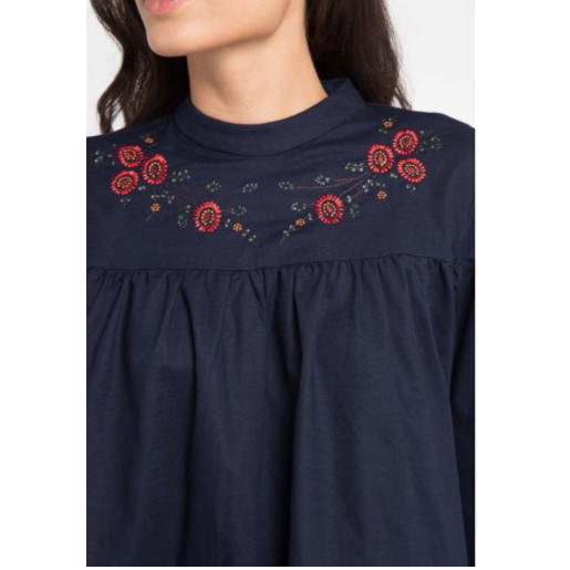 Foto Produk EDITION Off Embroidery Blouse Eb85 - NAVY - S dari Edition Official Store