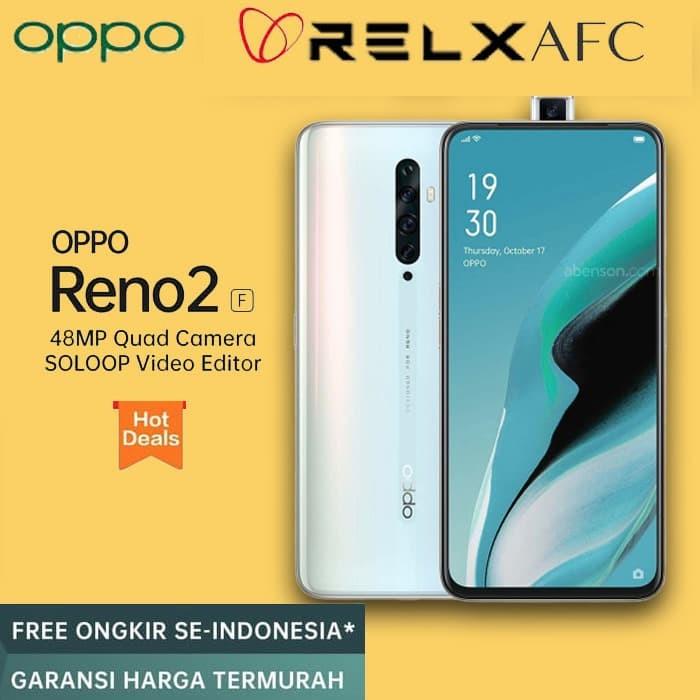 Foto Produk OPPO RENO 2F RENO2F 8GB 128GB 8 128 8/128 GB NOGIFT RESMI Sky White dari Relx Afc Official