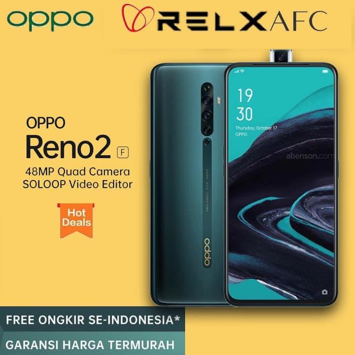 Foto Produk OPPO RENO 2F RENO2F 8GB 128GB 8 128 8/128 GB NOGIFT RESMI Lake Green dari Relx Afc Official