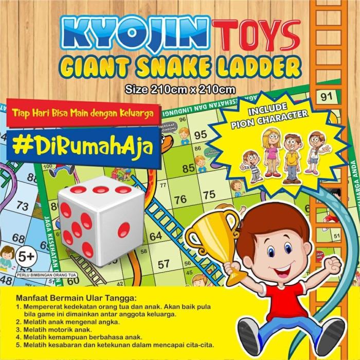 Foto Produk Karpet Ular Tangga Raksasa Free Dadu Kyojin Giant Ladder Snake MMT dari plugandpay