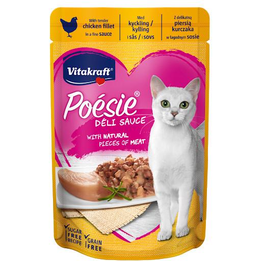 Foto Produk Vitakraft Poesie Delisauce Chicken Fillet 85gr 36662 Cat Wet Food Ayam dari Hime petshop