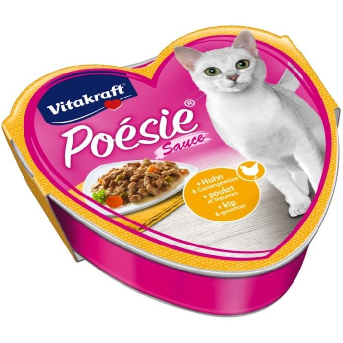 Foto Produk Vitakraft Poesie Chicken Garden Vegetable in Sauce 85gr 31334 Cat Food dari Hime petshop