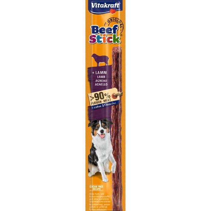 Foto Produk Vitakraft Beef Stick Lamb 12gr 23109 Snack Dog Cemilan Anjing Domba dari Hime petshop