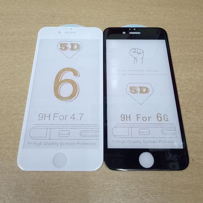 Foto Produk Tempered Glass, Anti Gores Kaca Full Cover iPhone 6/6S 5D - Hitam dari Pasar Lapan 8