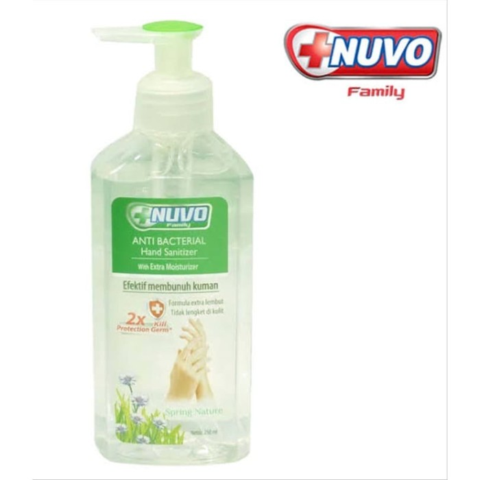 Foto Produk Nuvo Hand Sanitizer Spring Natural 250ml Hijau dari Rcky07 Olshop