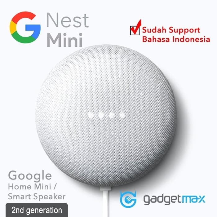 Foto Produk Google Home Nest Mini 2nd Generation Original - Charcoal Black dari Gadgetmax.net