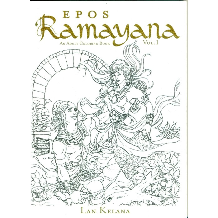 Foto Produk Epos RAMAYANA: An Adult Coloring Book Vol.1 dari Octo Merch