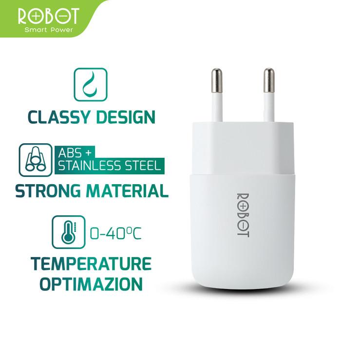 Foto Produk ROBOT RT-K2 Single USB Charger - Garansi Resmi 1 Tahun - Putih dari ROBOT OFFICIAL SHOP